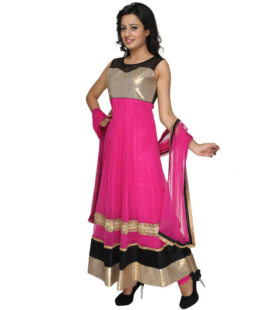 Ajahara Pink Others Stitched Suit