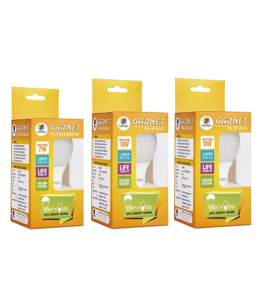 Wipro 9W Pack of 3
