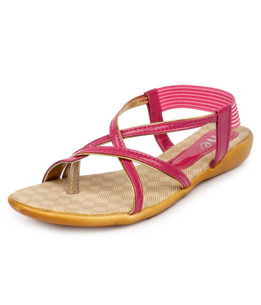 11E Pink Patent Back Strap Sandals