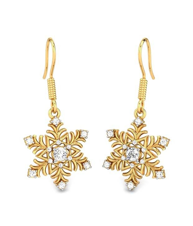 Candere Amiya Diamond Earring Yellow Gold 14K