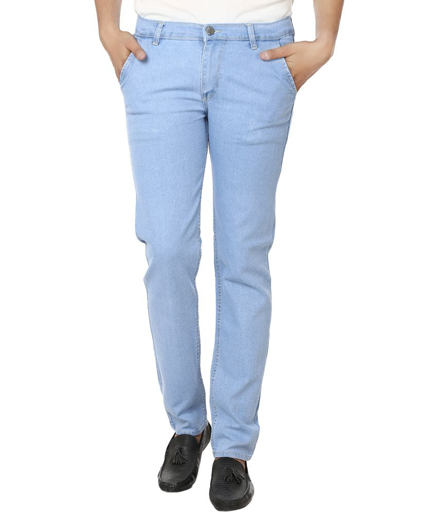 Club Vintage Lycra Stretchable Sky Blue Jeans