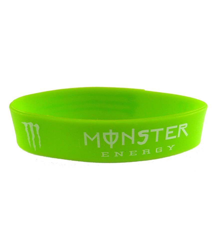 Eshoppee Monster Energy Silicone Green Wrist Band For Men & Women Wristband Bracelet