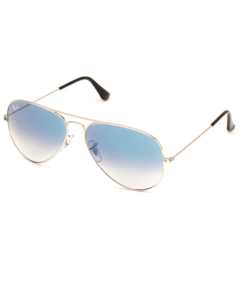 ray ban aviator cost  Ray-Ban Blue Aviator Sunglasses ( RB3025 001/3F 58 ) - Buy Ray-Ban ...