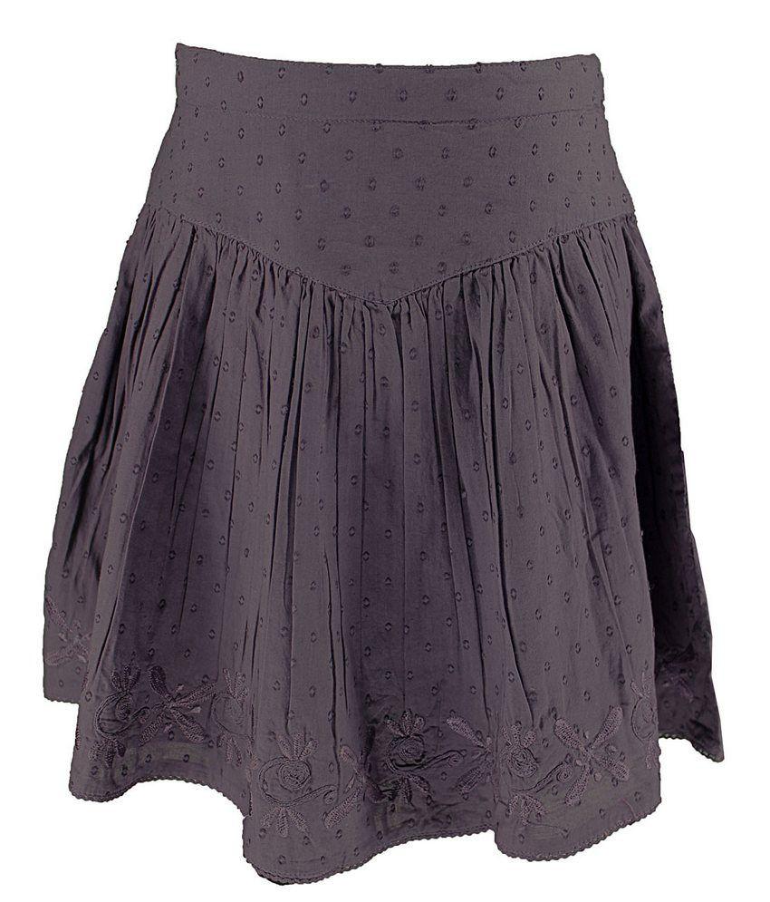 ShoperTree Purple Dobby Skirt