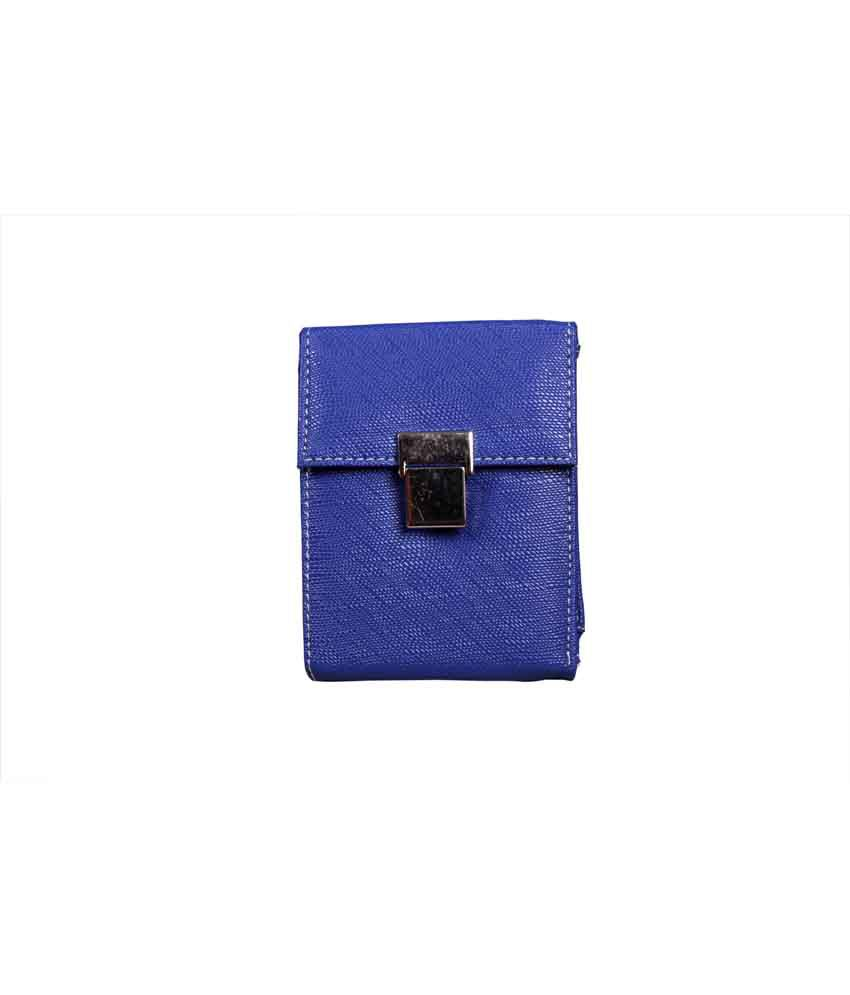 Top-zone Dark Blue Non Leather Bi-Fold Casual Regular Wallet For Women