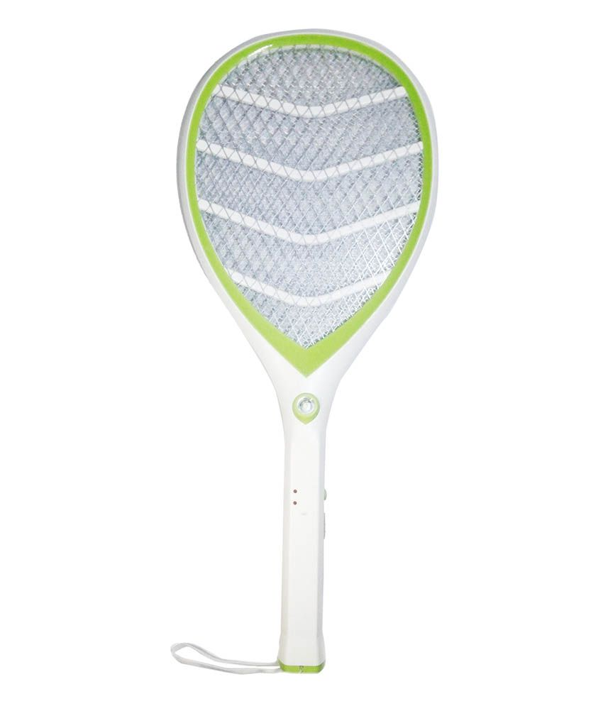 Tuscan Rechargeable Electric Mosquito Killer Racket White Buy Swatter Electronics Hobby