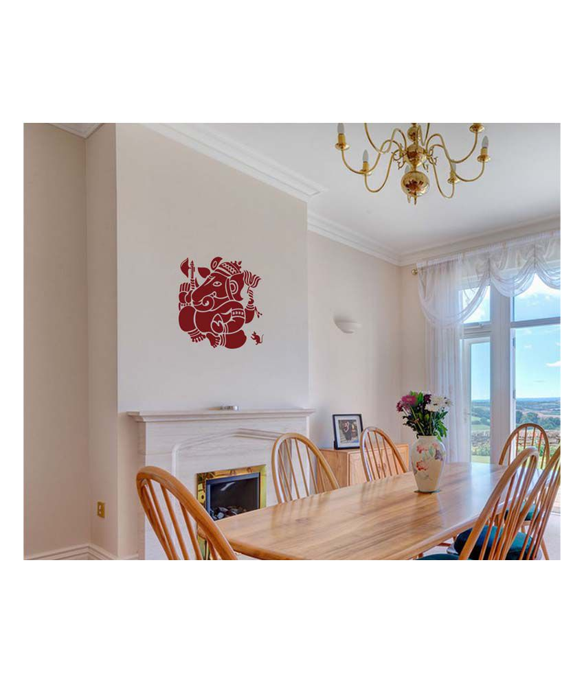 walldesign maroon vinayaka wall sticker medium buy