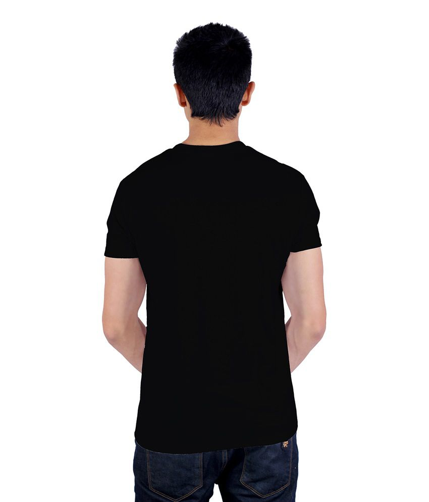 Black yamaha t shirt -  Enquotism Black Cotton Yamraaj S Yamaha T Shirt