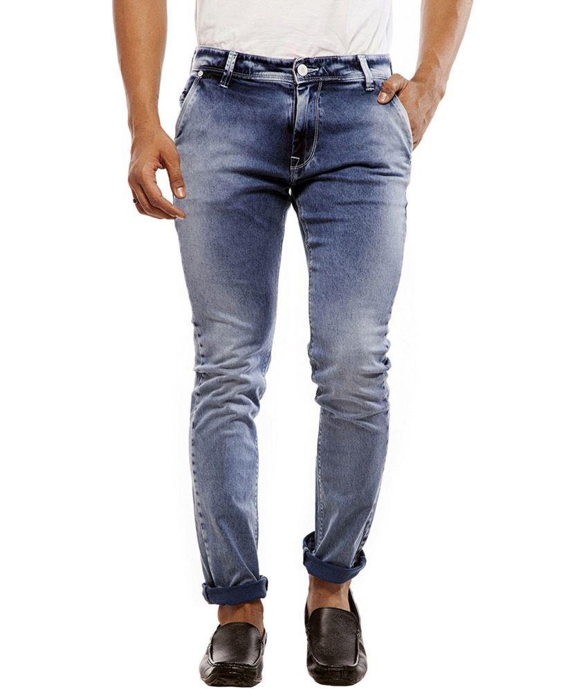 Integriti Blue Cotton Regular Fit Jeans