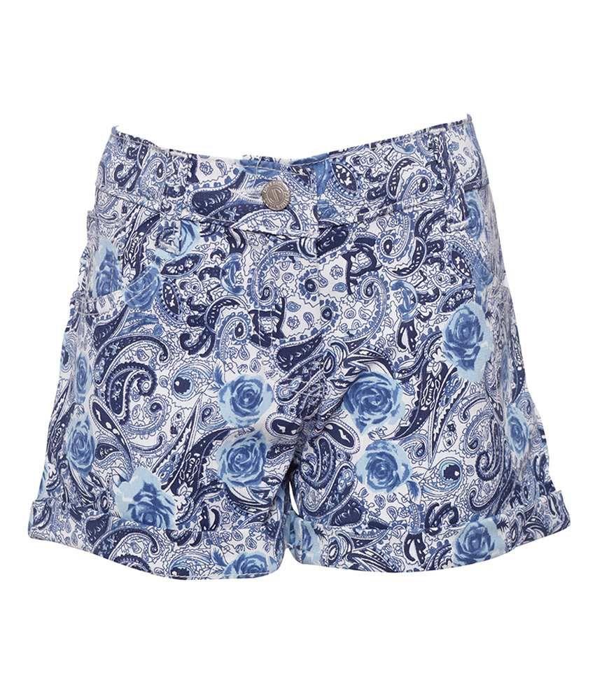 Joshua Tree Urban Traveller Blue Printed Shorts