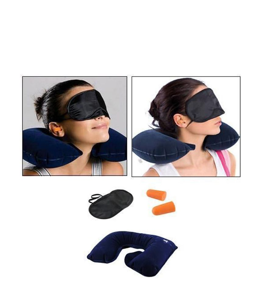 16be839cf Relax 3 in 1 Travel Combo - Inflatable Car Neck Cushion + Eye Mask + Ear  Plugs  Buy Relax 3 in 1 Travel Combo - Inflatable Car Neck Cushion + Eye  Mask + ...