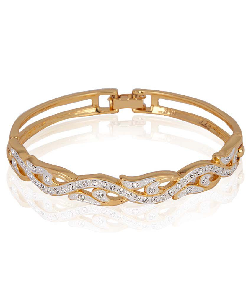 Estelle Gold and Silver Plated Bracelet With Crystals