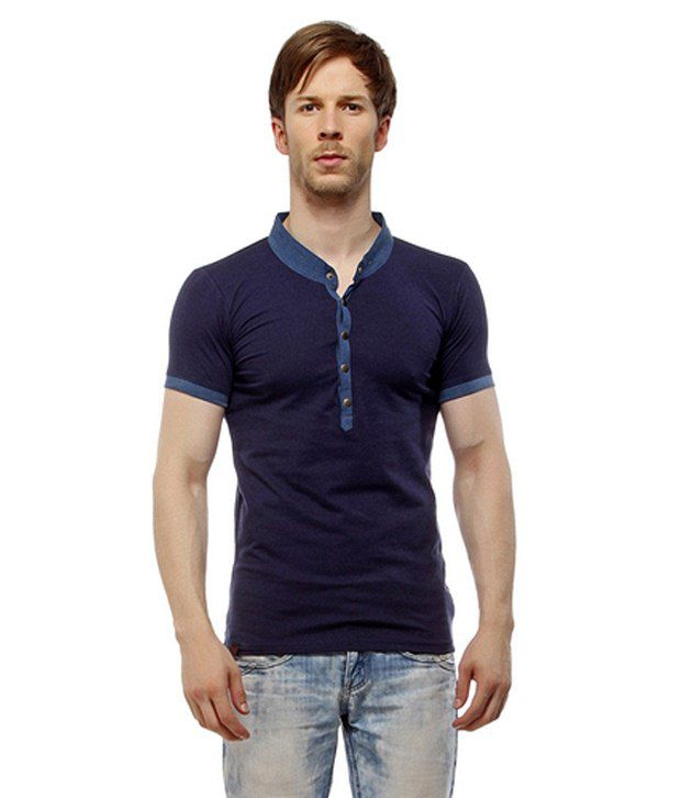 MY Navy Cotton T Shirt