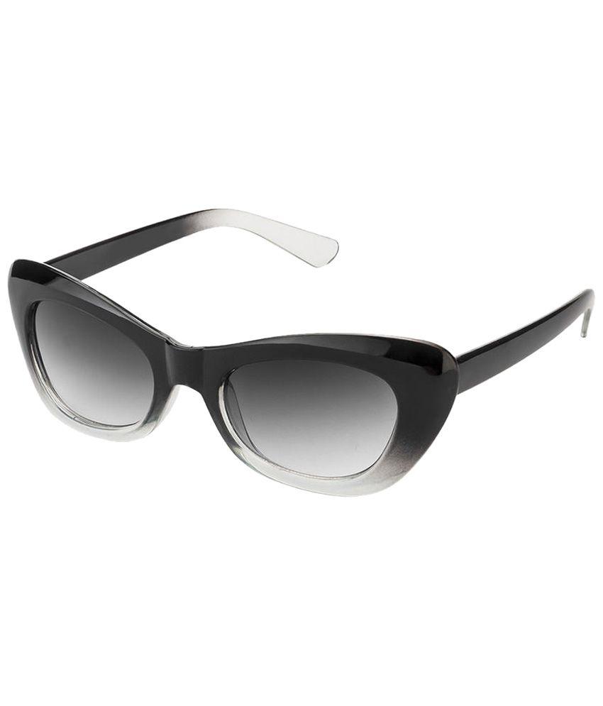 Mask Trendy Black & Gray Cat Eye Sunglasses For Women