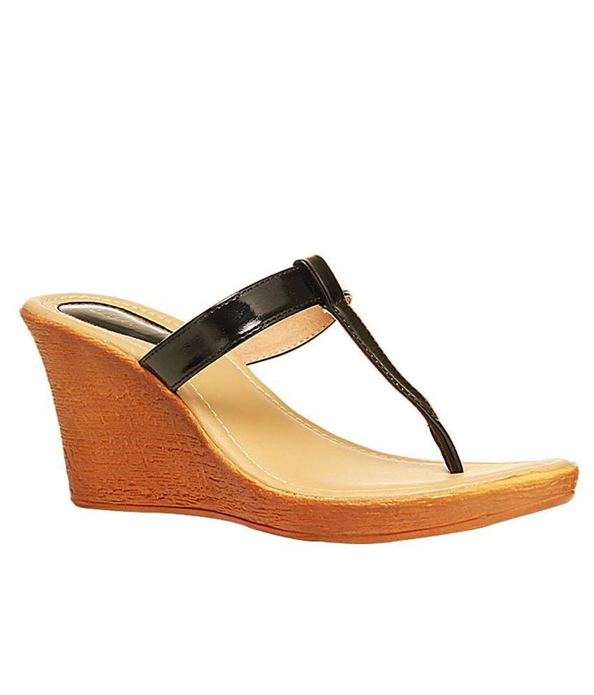 Bata Black Heeled Slip-On
