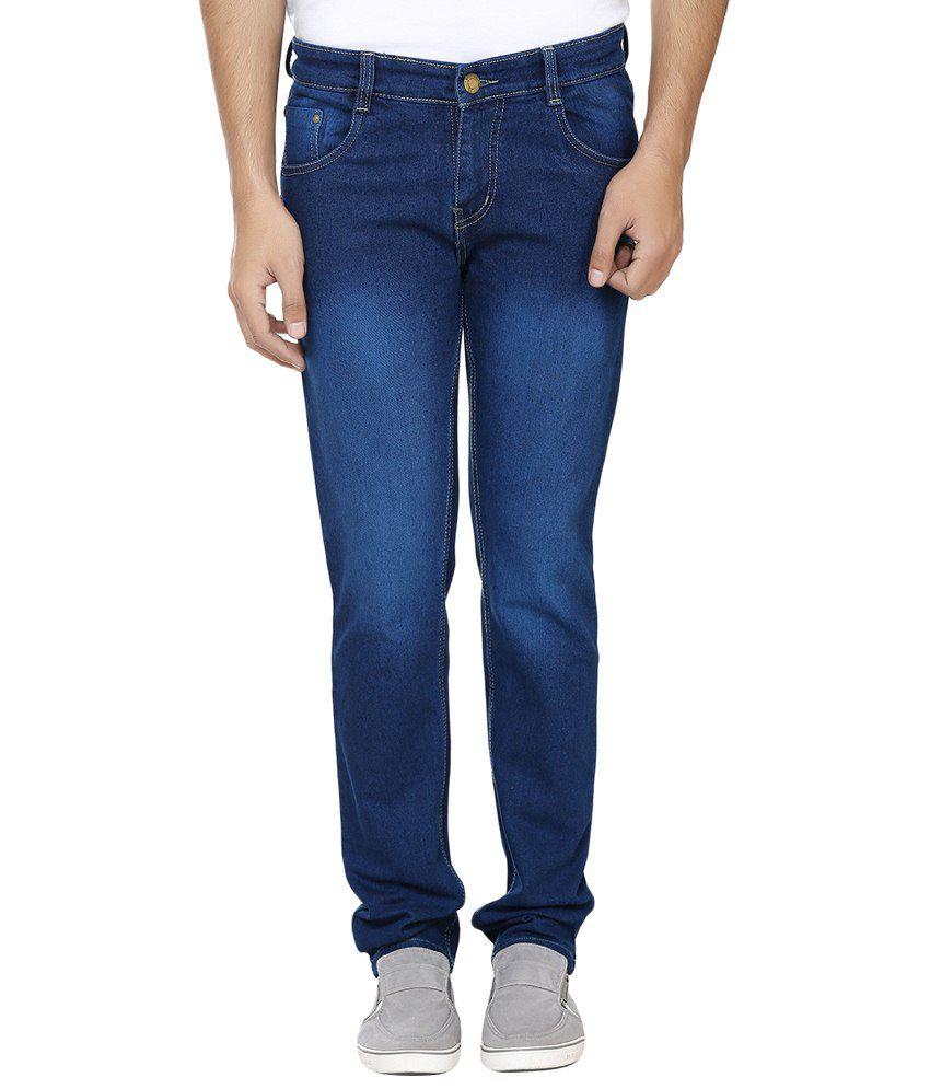 Forever19 Blue Cotton Regular Fit Jeans