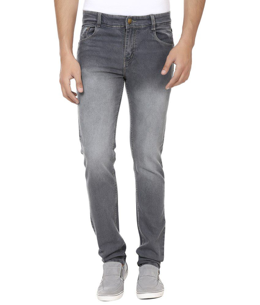 Forever19 Gray Cotton Regular Fit Jeans