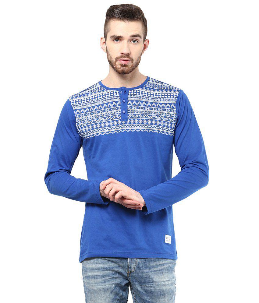 Atorse Blue Cotton T Shirt Buy Atorse Blue Cotton T