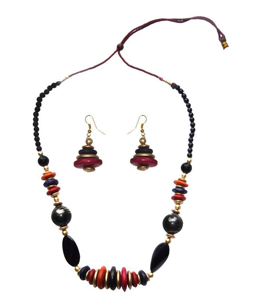 Alekip Multicolour Traditional Daily Wear Necklace Set