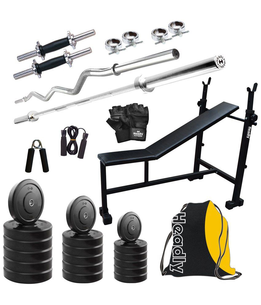 Headly kg home gym set with dumbbell rods