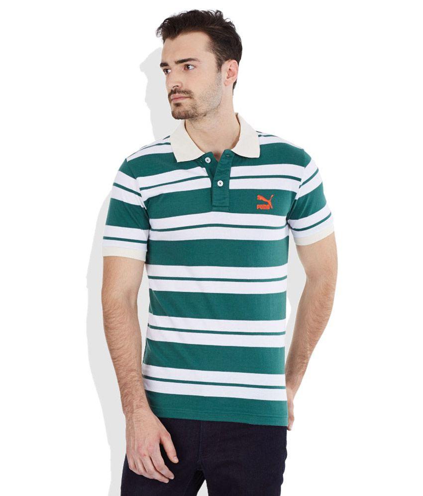 PUMA Green Polo T-Shirt