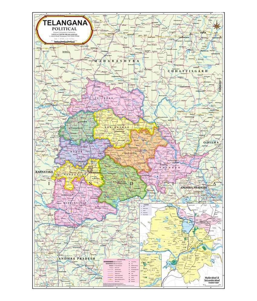 Vidya chitr prakashan telangana map buy online at best price in vidya chitr prakashan telangana map gumiabroncs Gallery