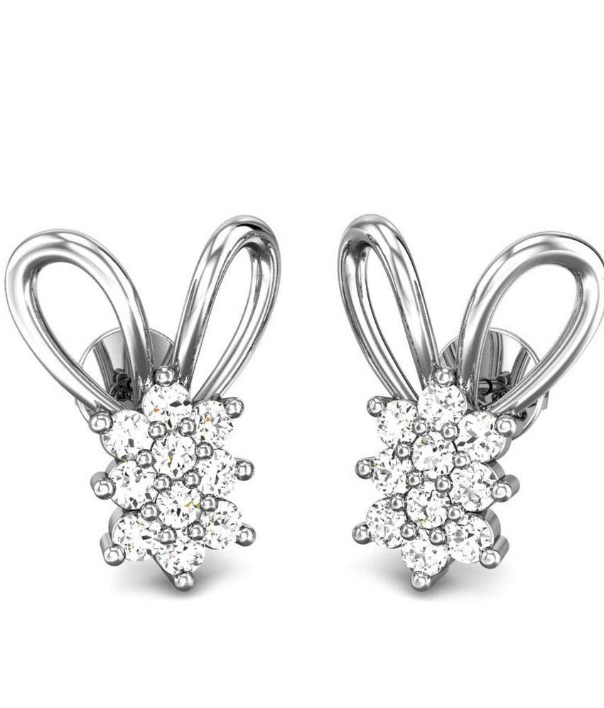 Candere Agneta Diamond Earring White Gold 14k