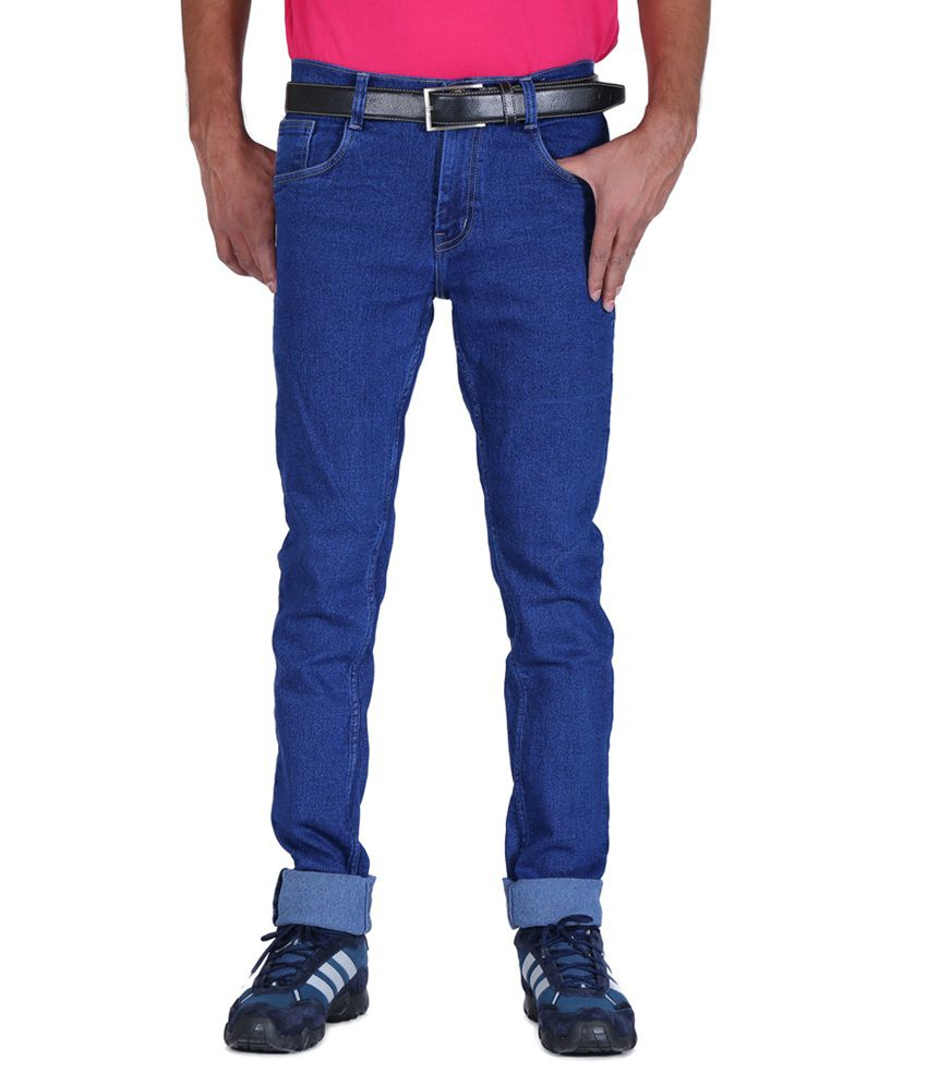 ALLY of Focker Blue Slub Stretchable Jeans