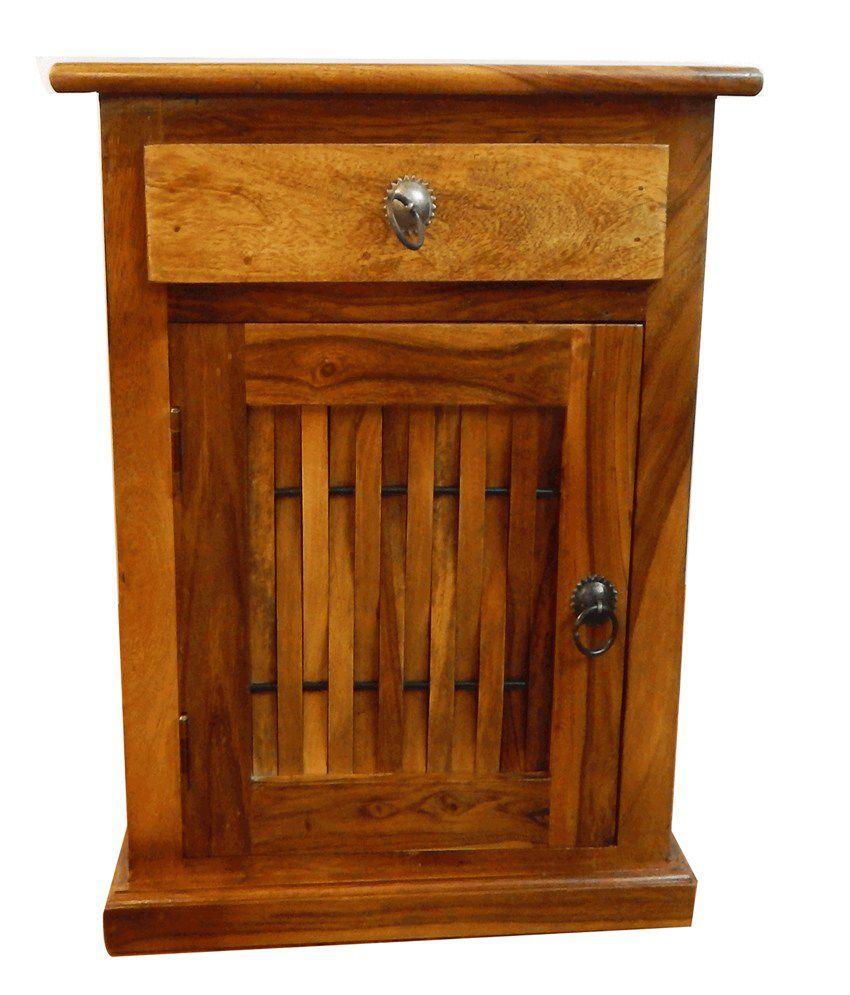 Basil Sheesham Wood Side Table