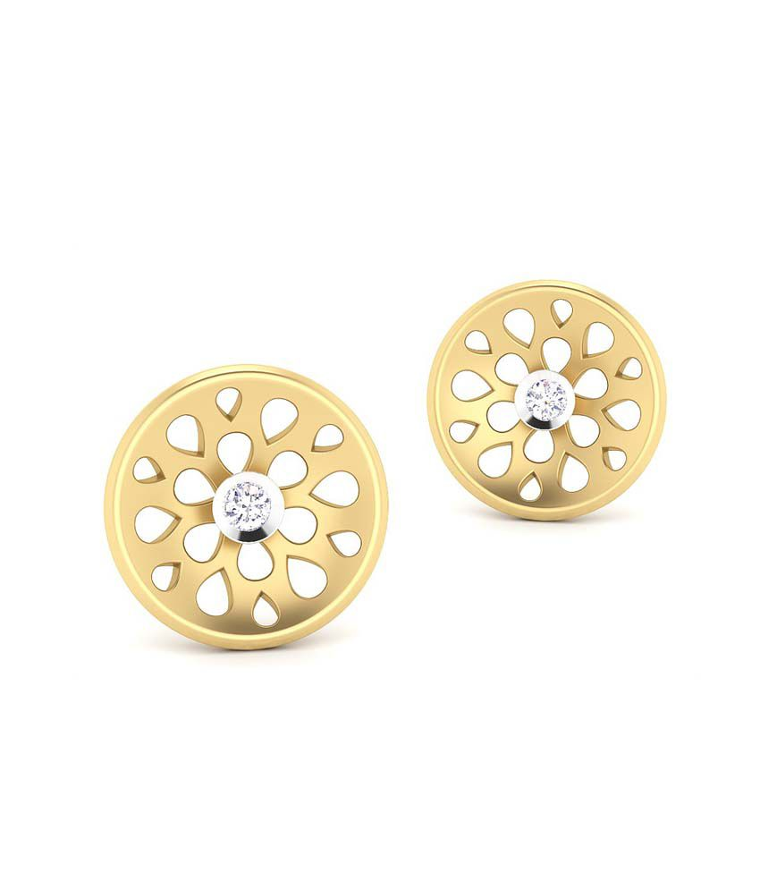 CaratStyle 18kt Gold Studs Raining Drop Earring