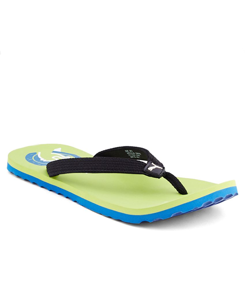94172b322 Puma Wave Dp Lime Flip Flops Price in India- Buy Puma Wave Dp Lime Flip  Flops Online at Snapdeal