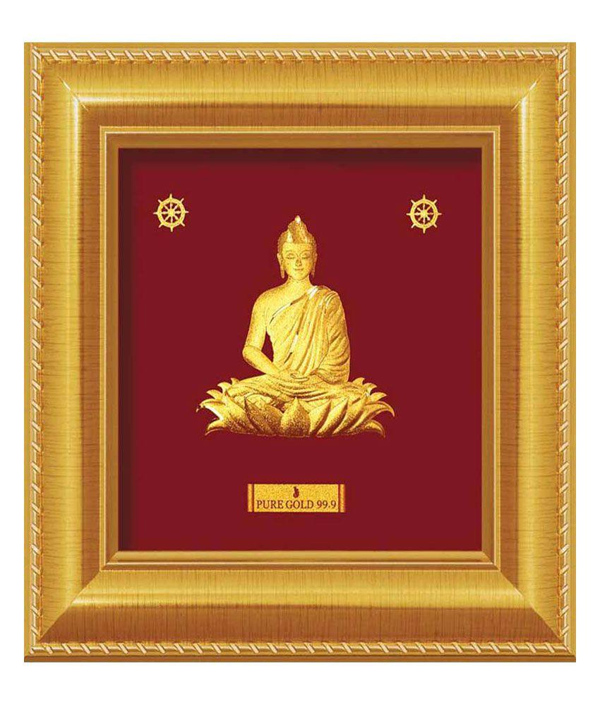 silverslane gautam buddha gold foil photo frame