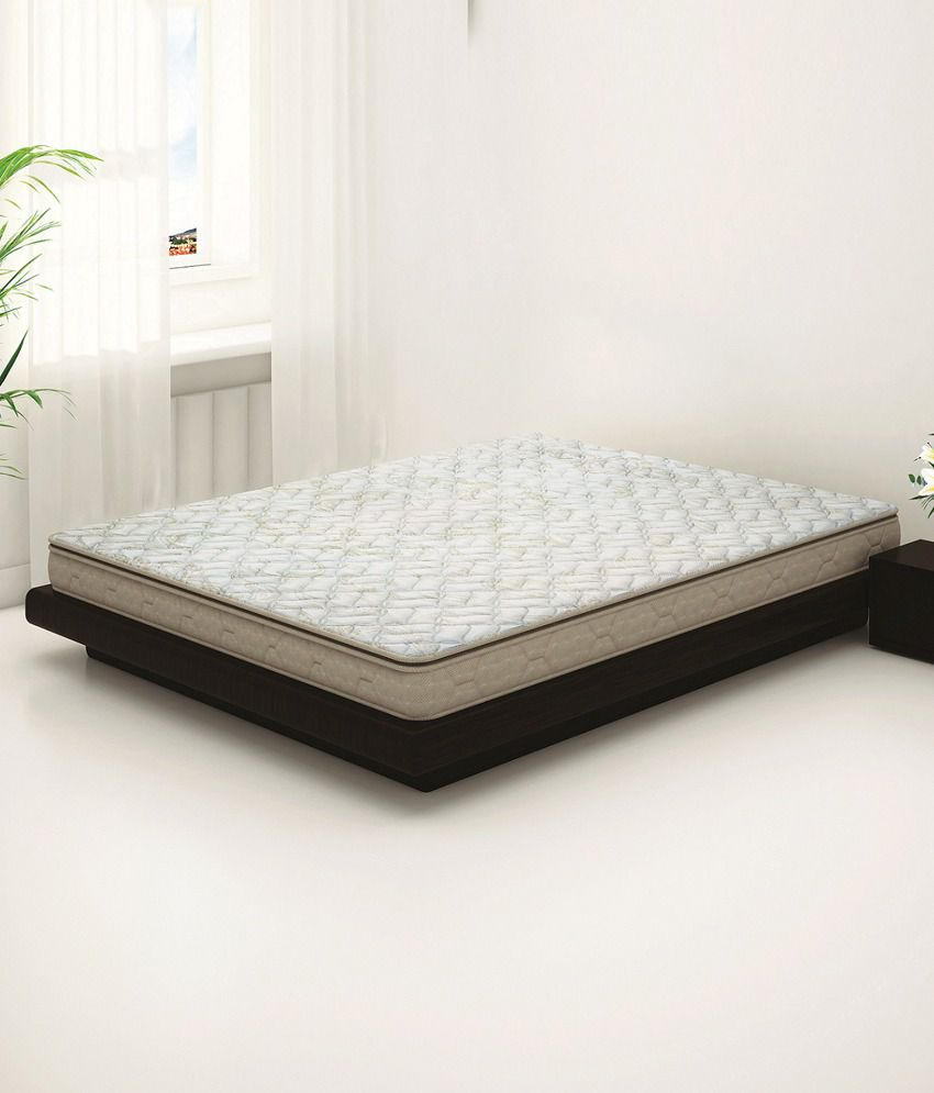 sleepwell duet luxury foam double mattress 72x60x5 inches buy