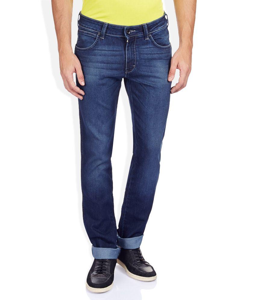 Wrangler Blue Faded Jeans