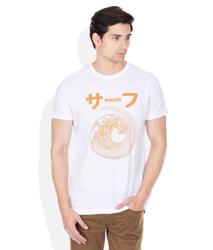 FCUK Black Round Neck T-Shirt