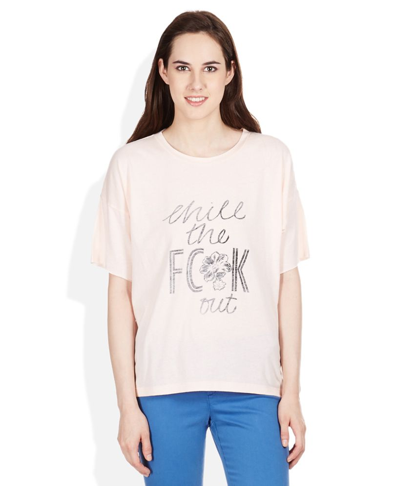 Buy FCUK Pink Cotton Blend Tees Online at Best Prices in India - Snapdeal 3c82d6b68