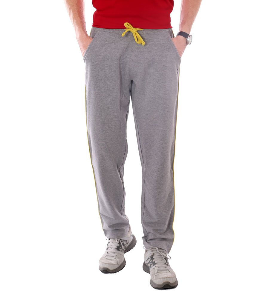 French Twins Grey Blend Elasticated Running Trackpant