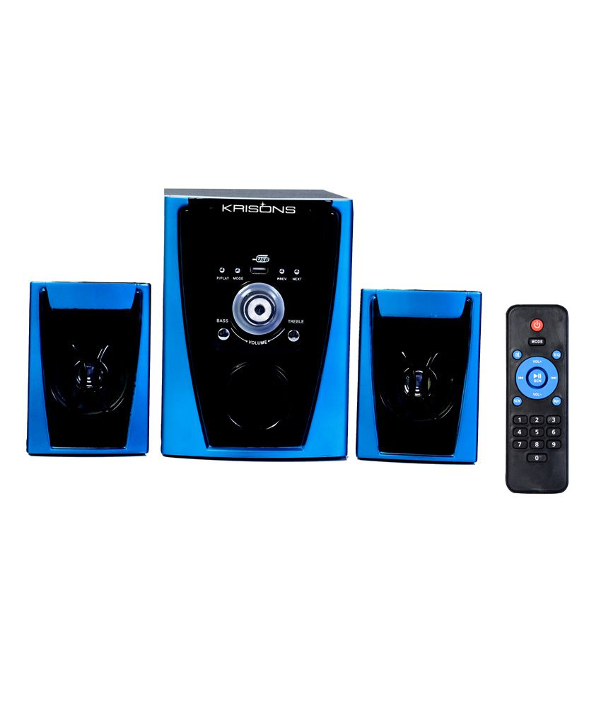 Krisons 2.1 Bluetooth Home Theatre System-blue