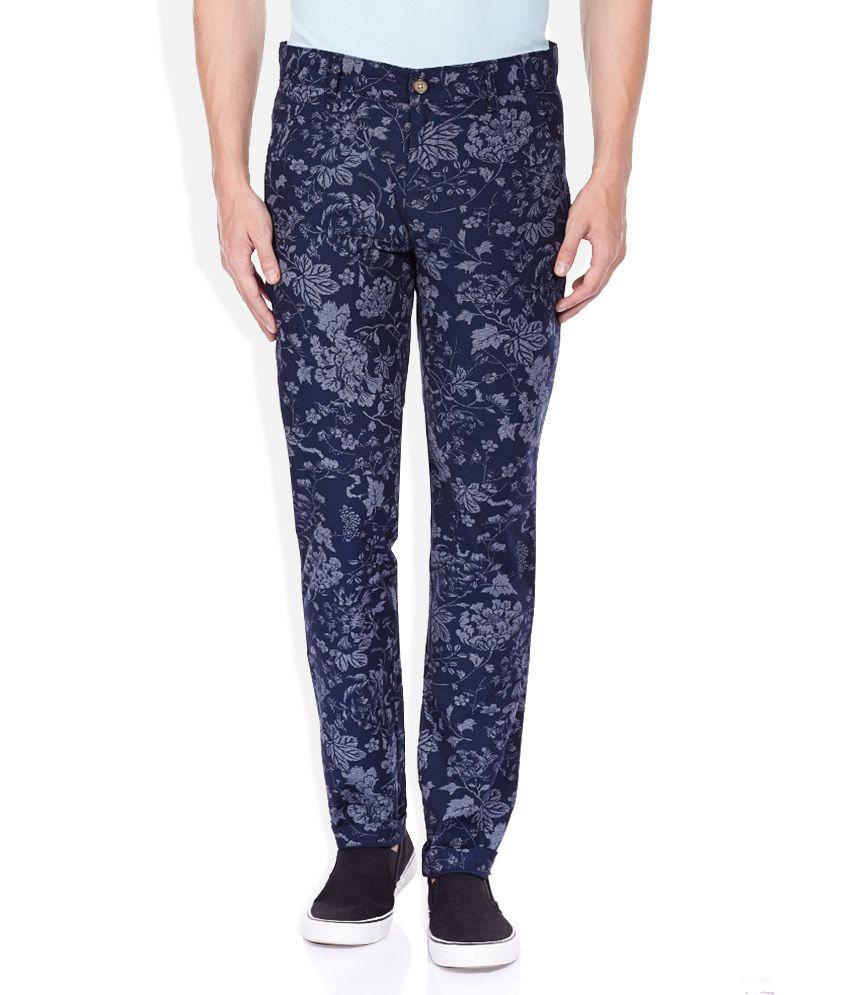 Sisley Navy Trousers