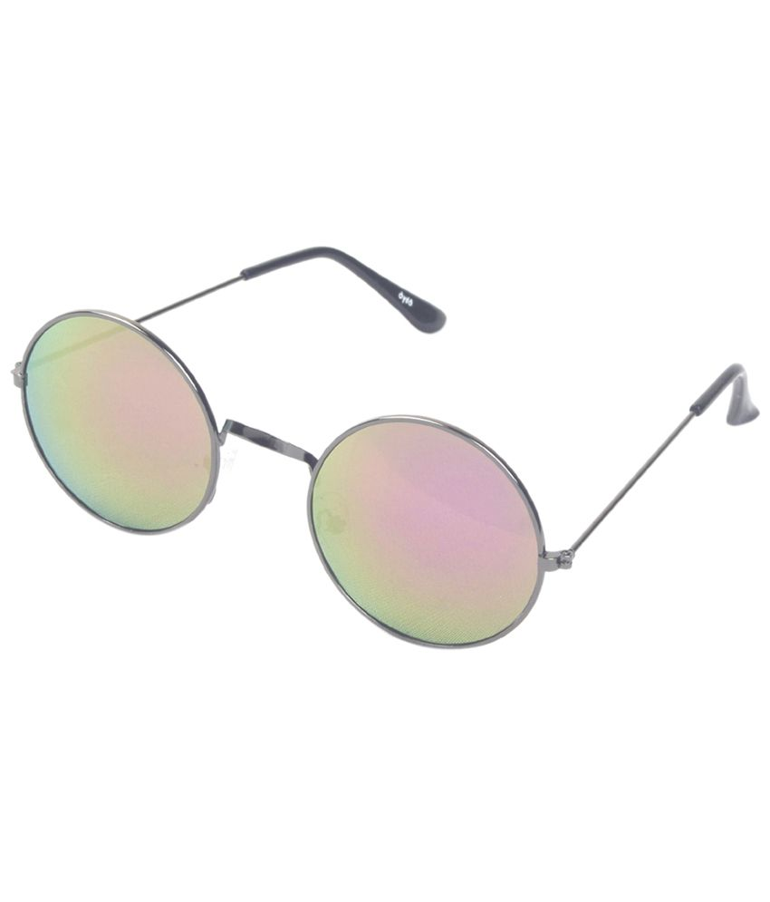 6by6 Gray & Pink Round Sunglasses For Women
