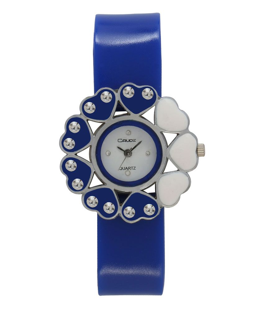 Crude Blue Analog Round Casual Watch