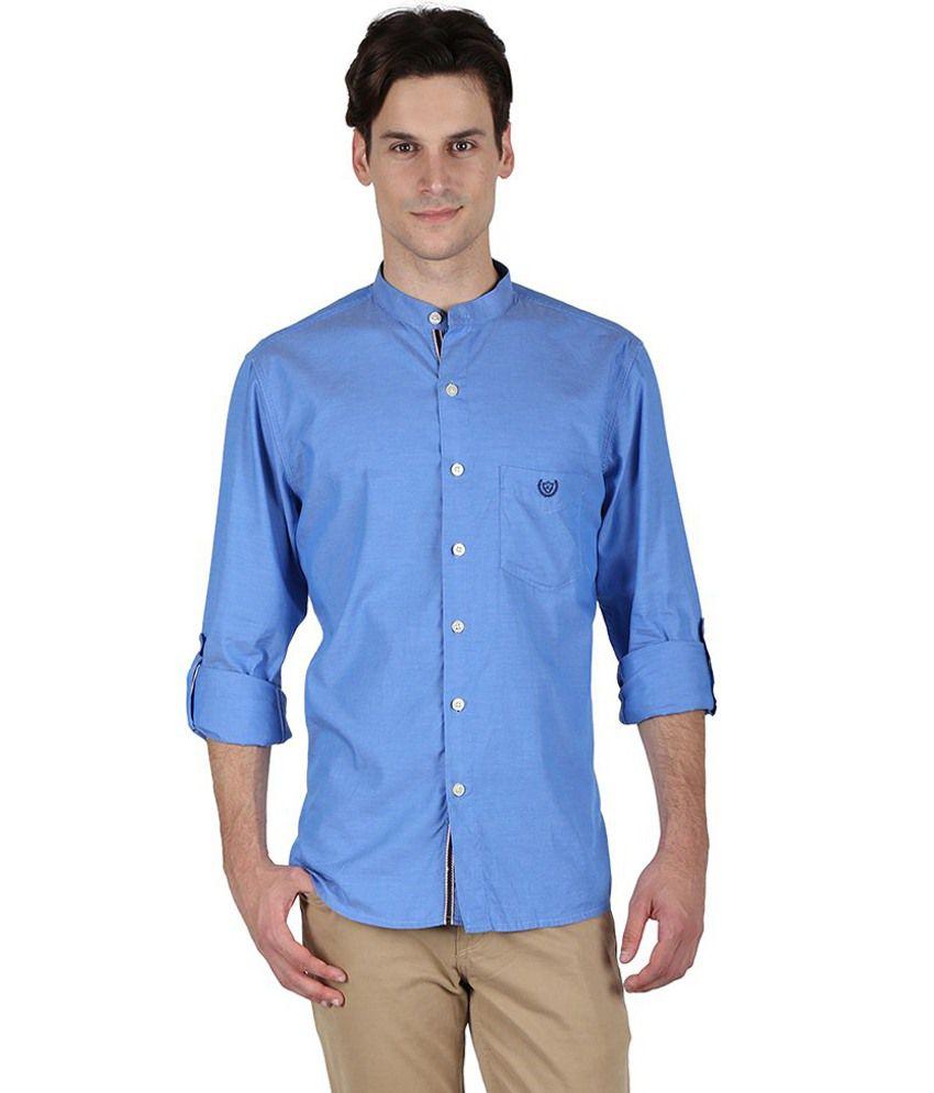 Kingswood Blue Cotton Shirt Buy Kingswood Blue Cotton