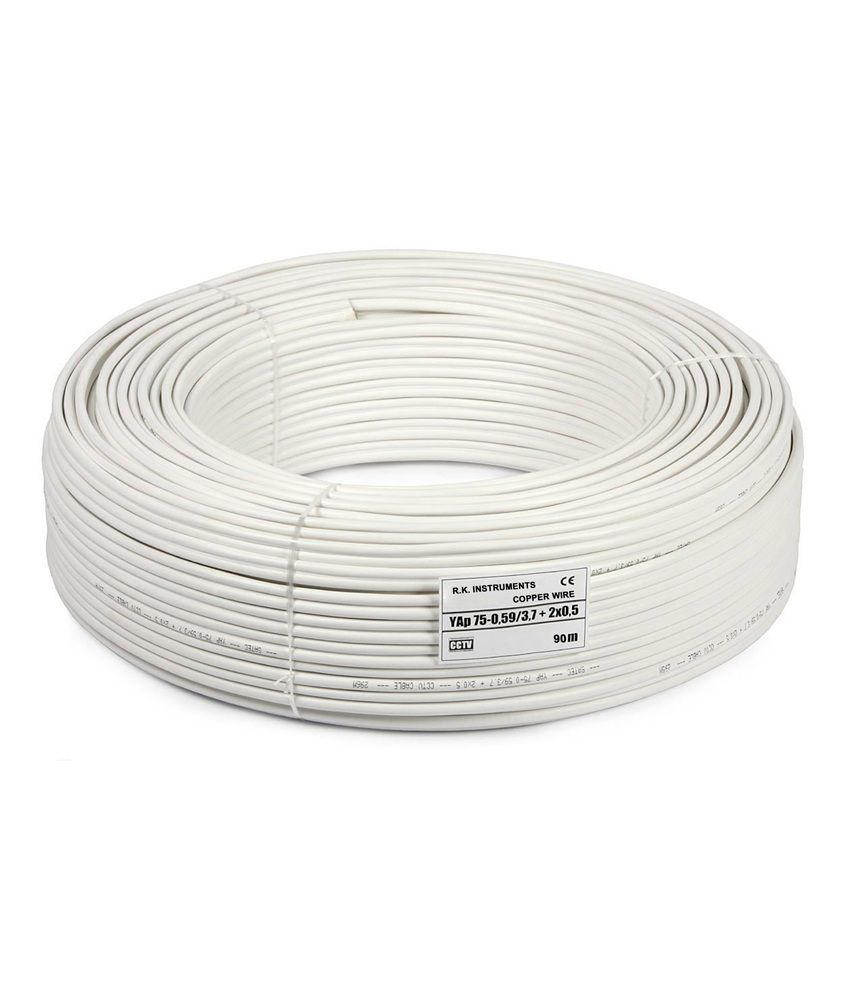 Mandrill 20 Meter 3+1 CCTV Camera Wire With Solid Copper Conductor ...