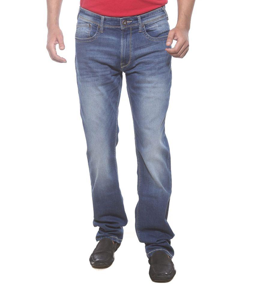 Pepe Jeans London Blue Cotton Blend Jeans