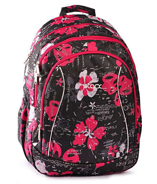 Starx Pink Water-Repellent Fabric Backpack
