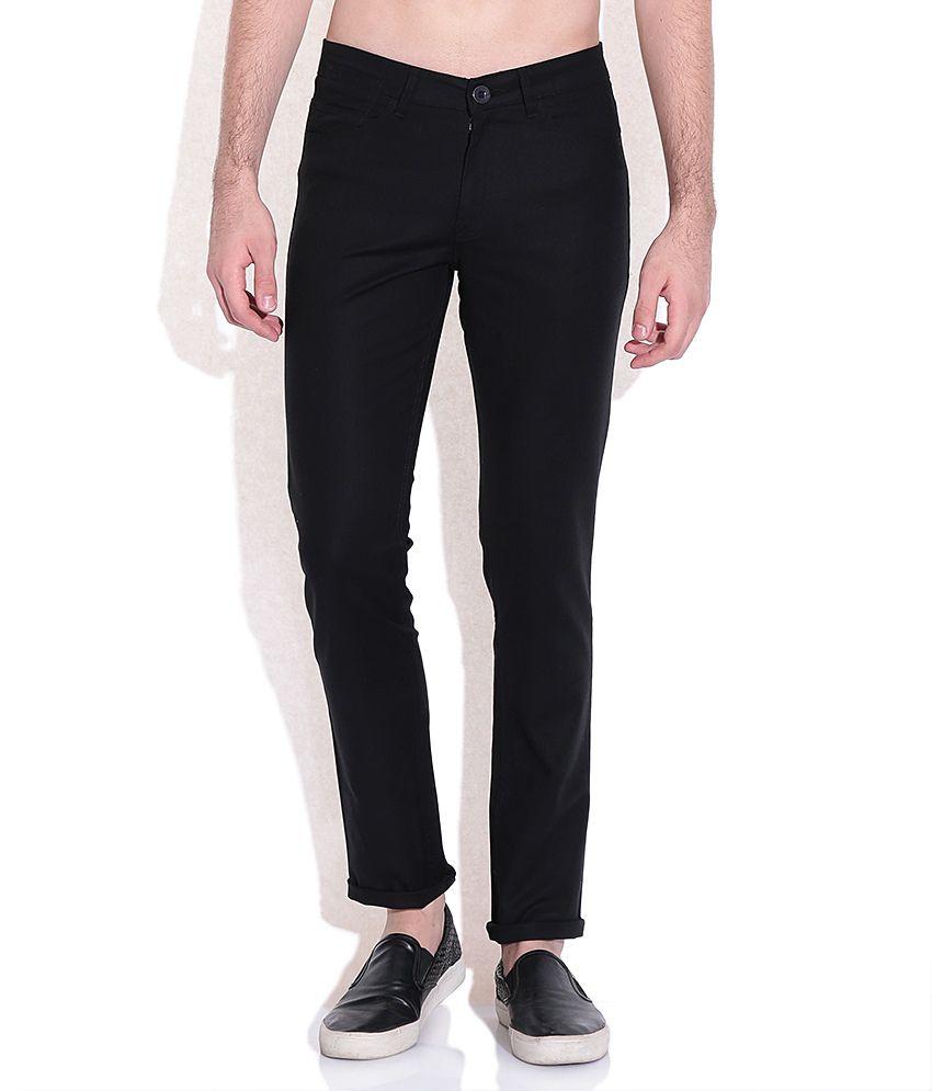 American Swan Black Slim Fit Trousers