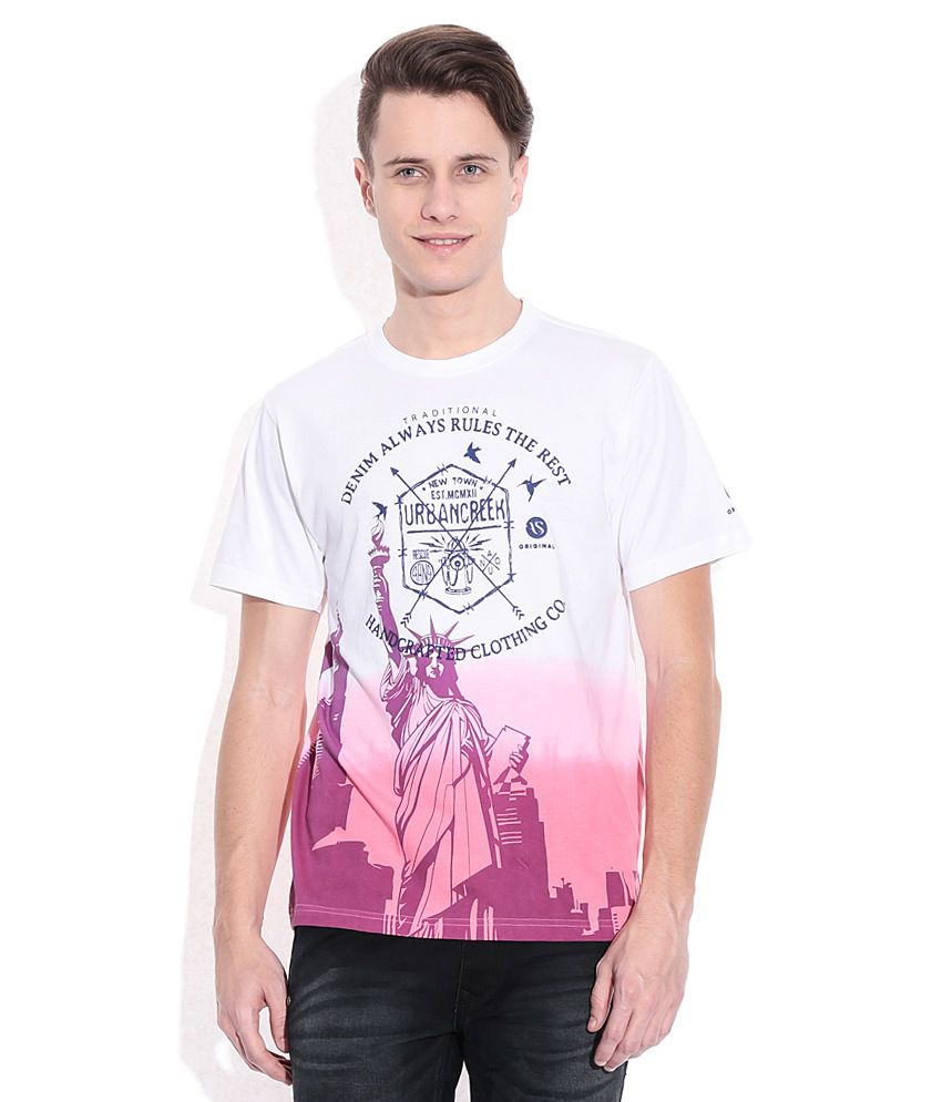 American Swan Multi Colored Round Neck T-Shirt