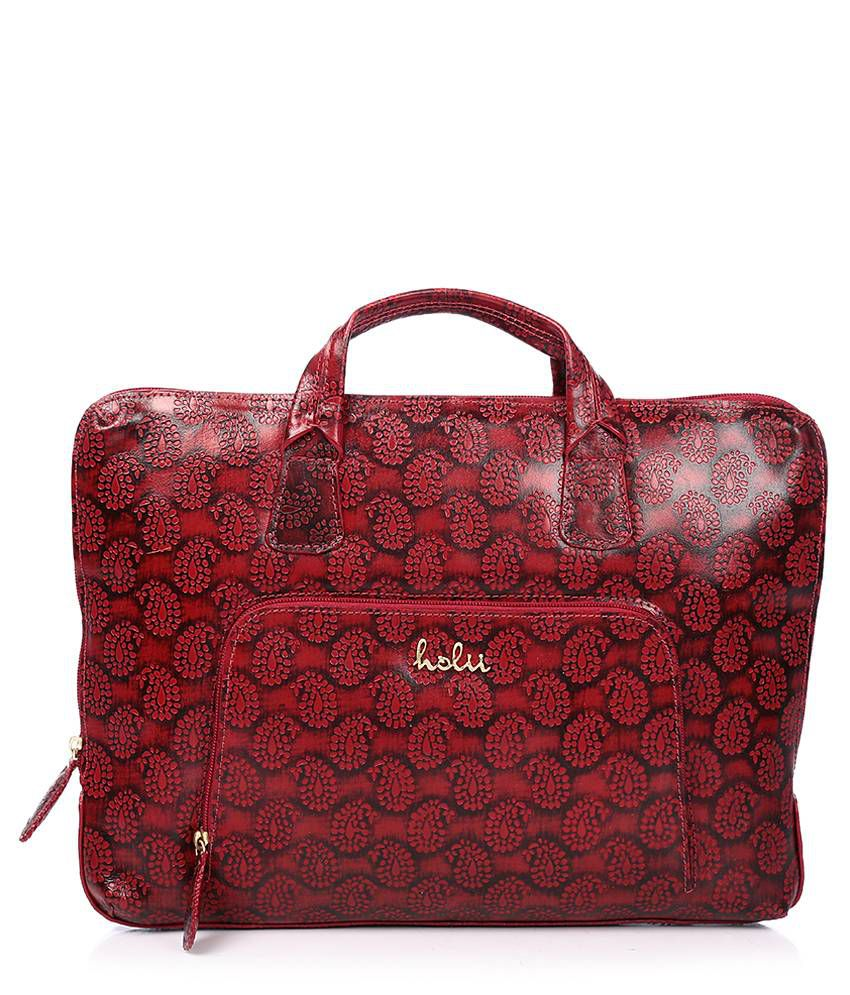 Holii Red Printed Laptop Bag
