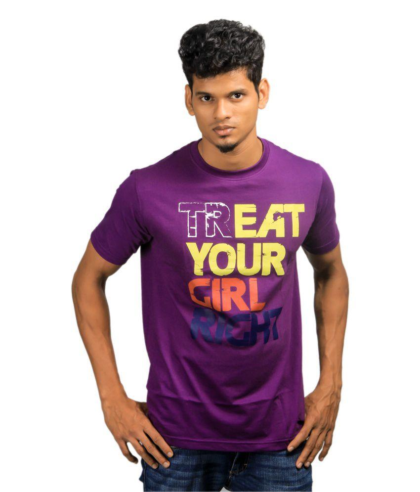 Paradigm Purple Crew Neck Tshirt