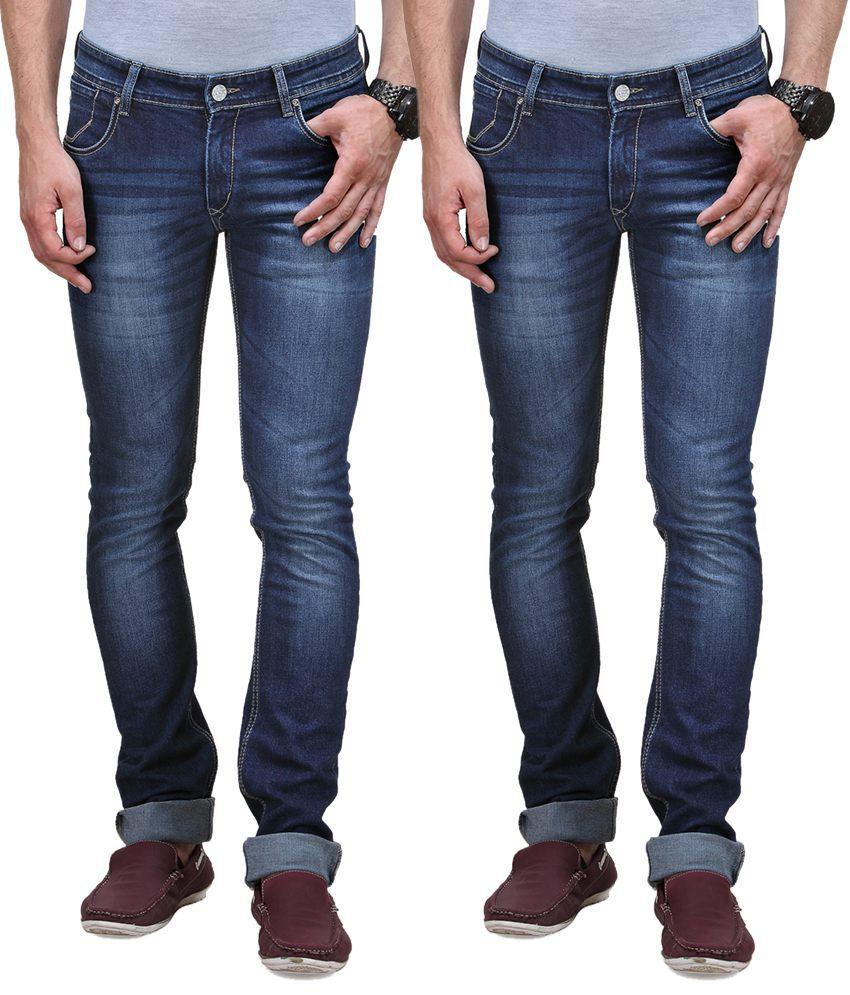 Vintage Blue Jeanswear Blue Slim Jeans Pack Of 2 Denim